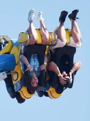 People enjoy the first day of the State Fair of Louisiana.