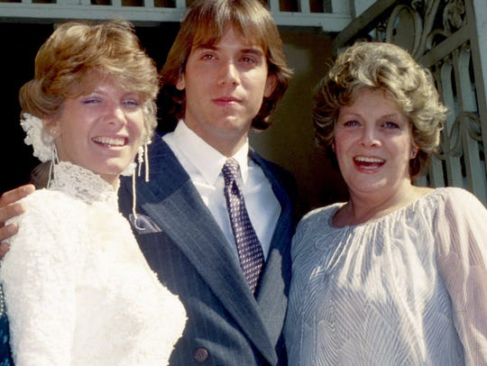 Debby Boone wedding photo, 1979, with husband Gabriel