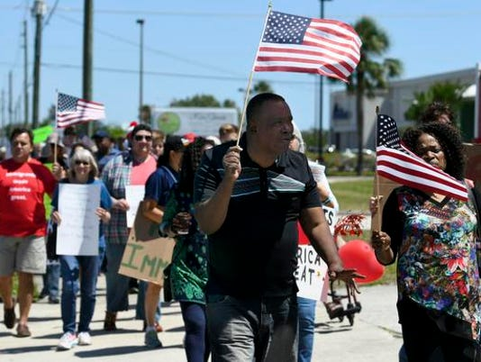 Pro-Immigrant March in Palm Bay