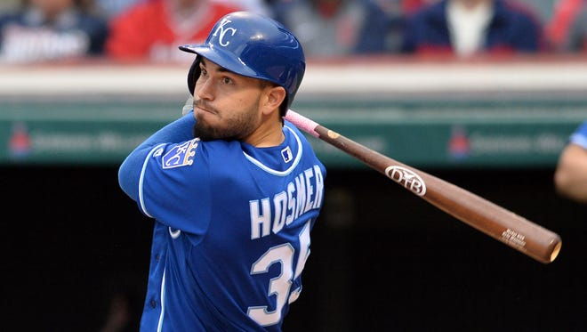 Royals first baseman Eric Hosmer traded batting average for power in 2016 and it resulted in a career-high 25 home runs.