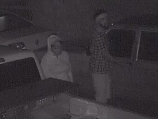 State police are looking for these men, who they believe have been breaking into cars.