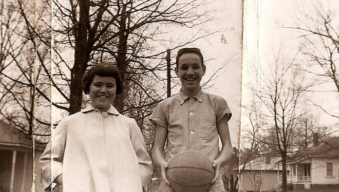 The author's parents in March 1957, a little more than seven years before their marriage.