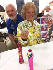 On Thursday, April 5, 2018, the Knights of Columbus San Marco Council #6344 hosted a Bingo fundraiser in the San Marco Parish Center. Above is jackpot winner Roseann Kurtiak of New Jersey.