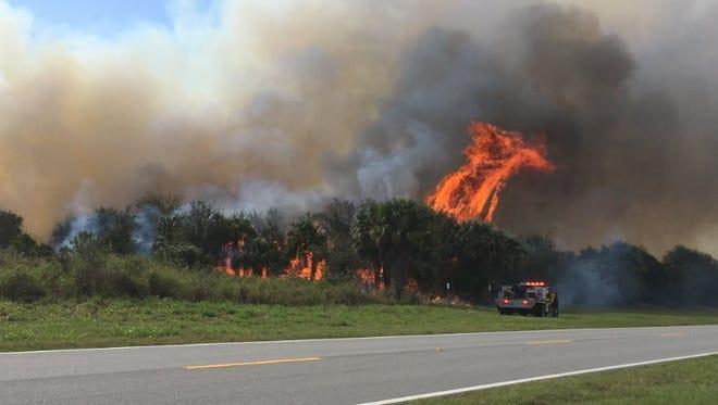 Controlled burns inside of the Merritt Island National Wildlife Refuge