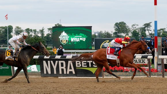 AP CORRECTION BELMONT STAKES HORSE RACING S RAC USA NY