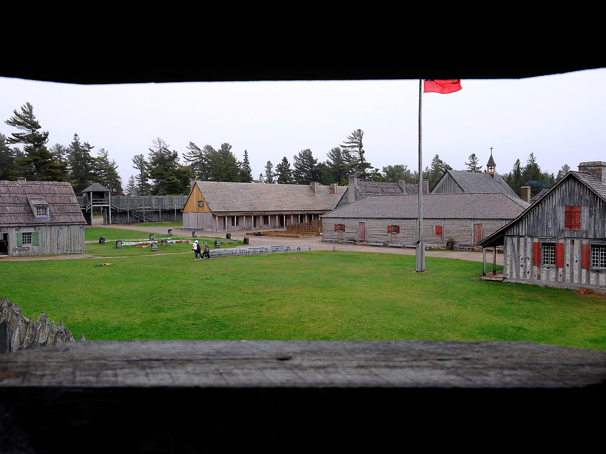The heavy timber construction  at Colonial Michilimackinac.