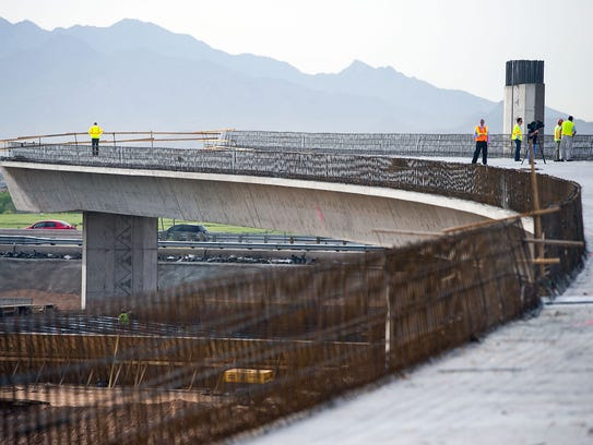Loop 303 ramp under construction