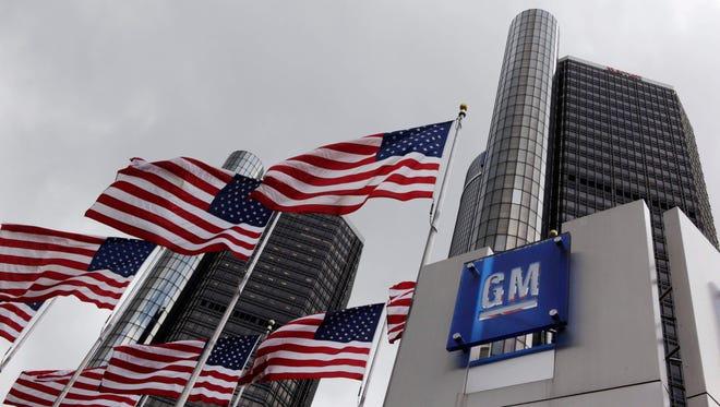 File photo of General Motors world headquarters in Detroit.