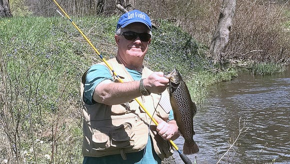 I landed this dandy brown trout Friday on the Cohocton