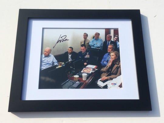 Joe Biden autographed war room photo.