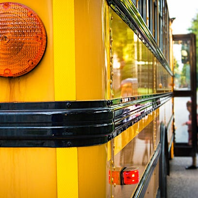 A Neptune school bus was involved in a crash Thursday