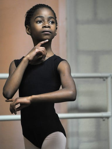Eva Pregont was orphaned in Africa and was adopted by an American family and now dances at the  Rejoice school of ballet in East Nashville on Thursday April 10, 2014, in Nashville in Tenn.