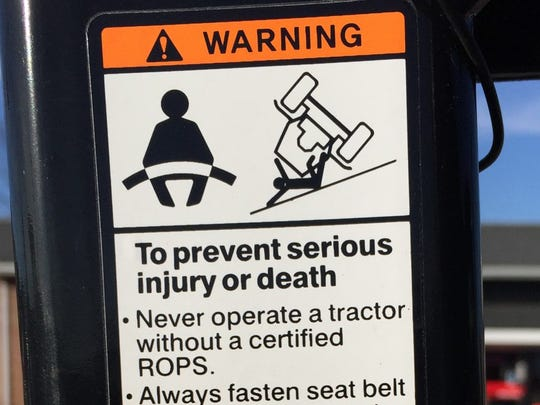 A ROPS, when used with a seatbelt, is 99 percent effective in preventing injury or death in the event of an overturn.