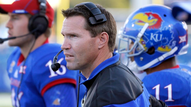Kansas interim head coach Clint Bowen has yet to win a game. Iowa State is his best chance to do so.