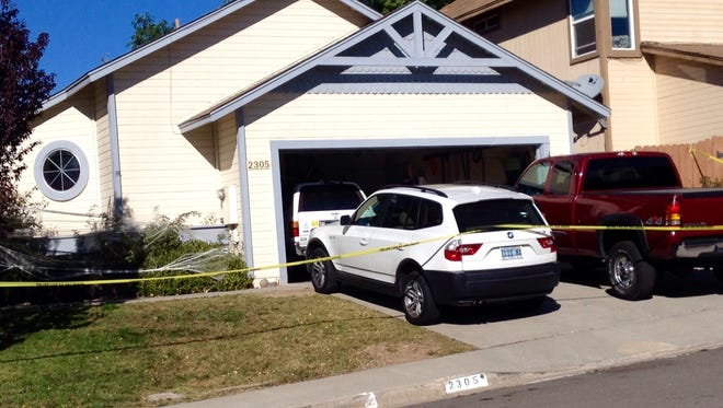Reno police are working the scene of a death Tuesday, Sept. 22, 2015.