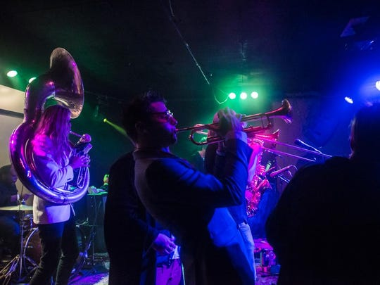 On the Scene with Empire Strikes Brass at Asheville Music Hall and The One Stop Presents: The Asheville New Years Eve 2016 Masquerade.