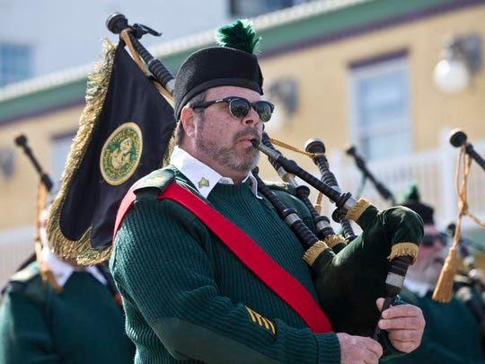 The Ocean County St. Patrick's Day Parade makes its way down the Boulevard lined with huge crowds. Seaside Heights, NJ Saturday, March 12, 2016@DhoodHood