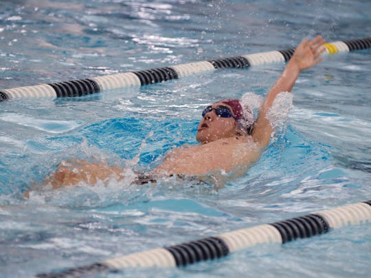 Alex Gifford of Ridgewood won the 200 freestyle at last year's Bergen County Meet of Champions.