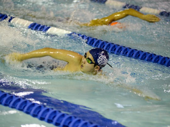 State swimming championships, Group C: (1) NV/Demarest vs. (2) Mountain Lakes.NV/Demarest Nick Kim in 400 free relay.