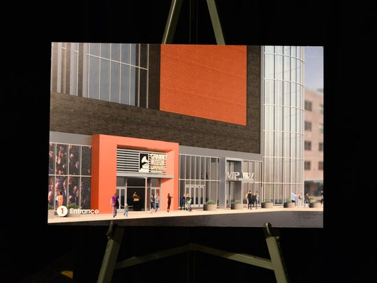 Proposed entrance to the Grammy Museum Experience in Newark