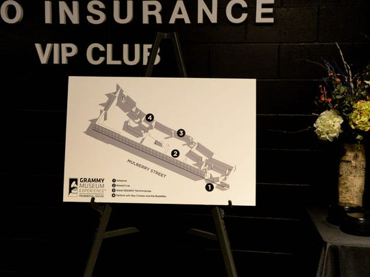 Proposed floor plan for the Grammy Museum Experience,