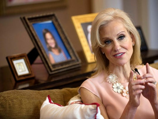 """In an interview with columnist Mike Kelly at her home in Alpine in March, Kellyanne Conway, counselor to President Donald Trump, suggested that """"microwave ovens that turn into cameras"""" can be used as a surveillance tool."""