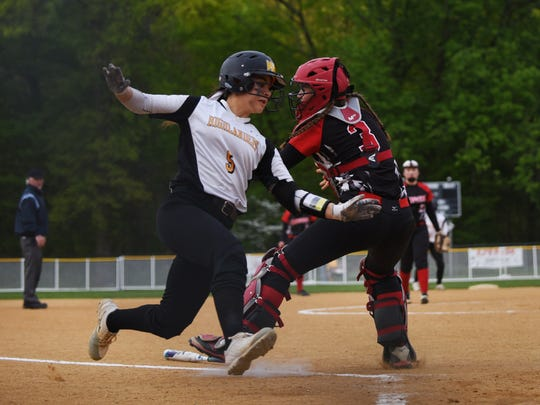 Alexa Barca, left, and the West Milford softball team earned the second seed in the upcoming North 1 Group 3 state tournament. The Highlanders are coming off Monday night's loss to DePaul in the Passaic County Tournament championship game.