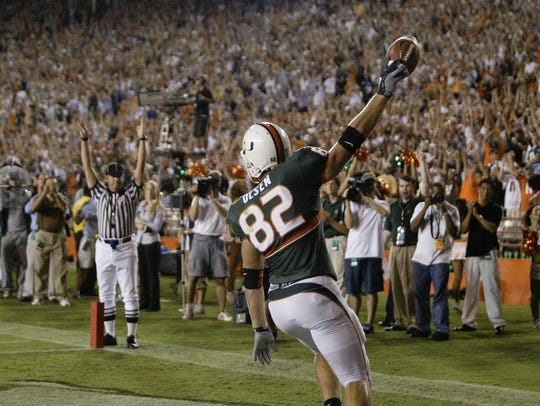Wayne's Greg Olsen at Miami.