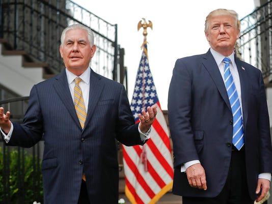 Donald Trump, Rex Tillerson