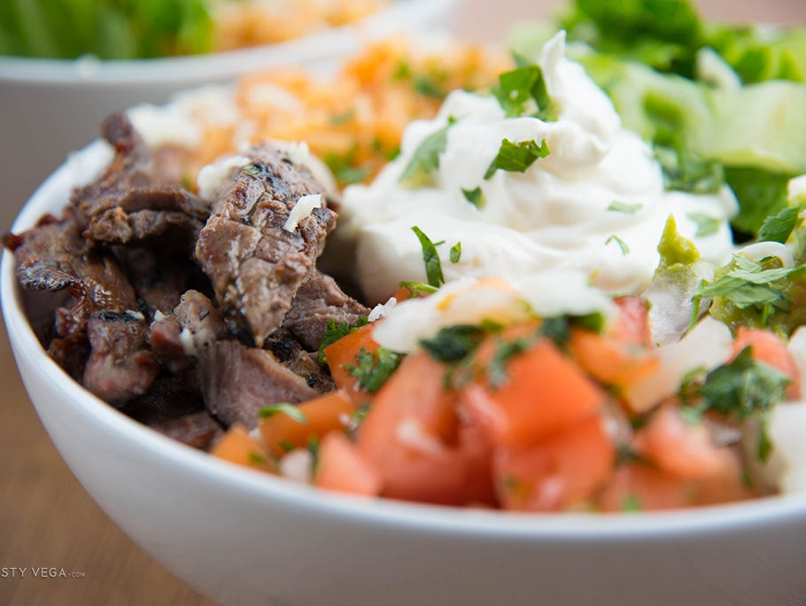Keep hungry guests happy at your next game day with this Steak Fiesta Bowl.