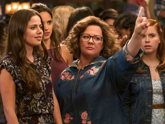 """Molly Gordon, left, and Melissa McCarthy star in """"Life of the Party,"""" in theaters on May 11."""