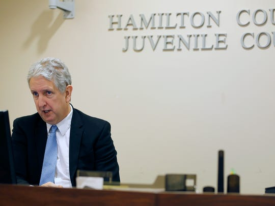 Magistrate David Kelley presides during a hearing at