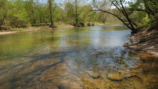 A Noel man drowned Monday in the Elk River in McDonald County.   -The Elk River near Pineville.