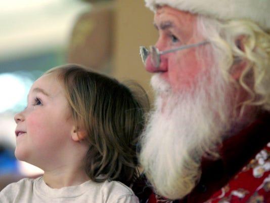 Santa at mall