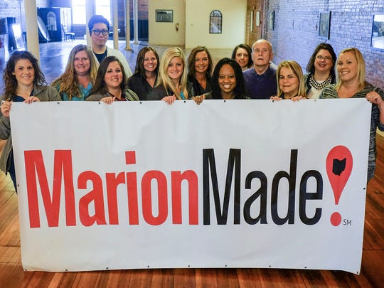 Staff from the Center Street Community Health Center in Marion show their support for the Marion Made initiative in this file photo.