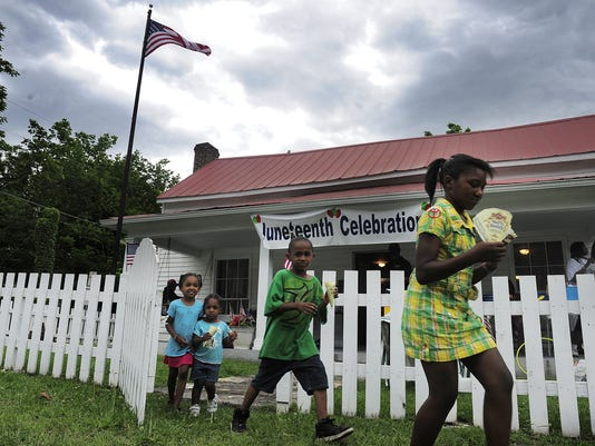 Clouds keep Juneteenth event intimate