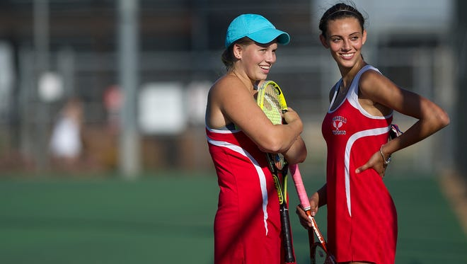 Tia Krzykowski (left) and Nicole Schroeder have been playing together since sixth grade.