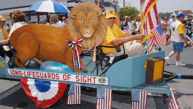 The Lord Baltimore Lions Club float rides in annual Fourth of July Parade in Bethany Beach in 2008.