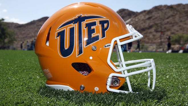 The new UTEP helmet for the 2018 season was unveiled to the players Tuesday at Glory Field.
