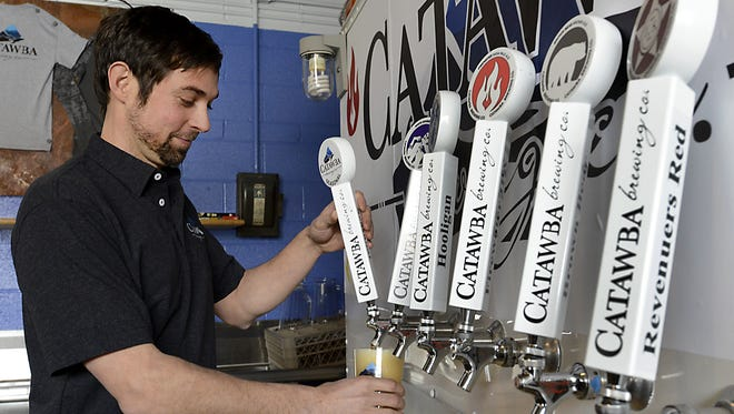 Stop by the Catawba Brewing Asheville tasting room in Biltmore Village to sample that brewery's beers including the new Winterbolt Winter Ale.