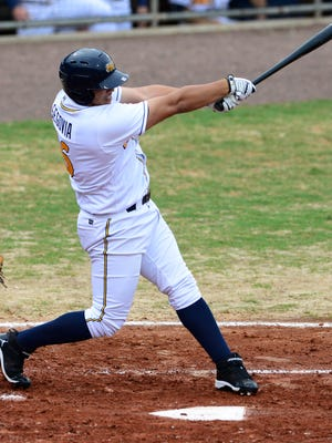 Montgomery Biscuits' Alejandro Segovia bats against the Mobile BayBears at Riverwalk Stadium in Montgomery, Ala. on Sunday June 22, 2014.