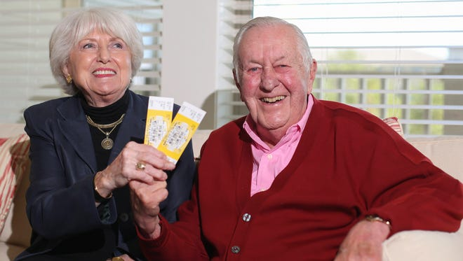 Phil Dorweiler and his friend, Liz Frink, may not be the oldest fans of Taylor Swift in the world, but Phillip believes they may be the oldest in attendance at Swift's Des Moines show on Thursday, Oct. 8, 2015, at Wells Fargo Arena.
