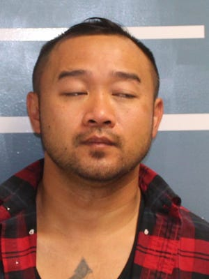 Naigian Saephan was arrested on suspicion of possession of a stolen vehicle and possession of stolen property.