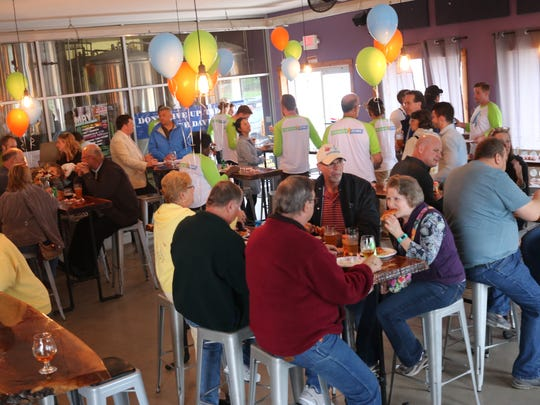 Generation Atomic, a pro-nuclear advocacy group of grassroots organizers, hosted a 'Save Davis-Besse Party' at the Catawba Island Brewing Co. on Thursday.