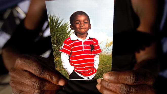 A picture of Andrew Faust Jr., 5, who was killed by gunfire Monday in Fort Myers.