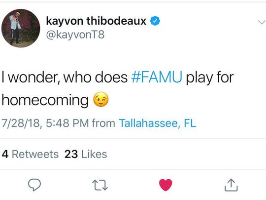 Kayvon Thibodeaux ponders over FAMU homecoming. The Rattlers will celebrate their homecoming against Norfolk State on Oct. 6.