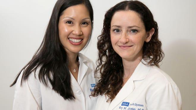 Elizabeth Ko, MD, left, and Eve Glazier, MD