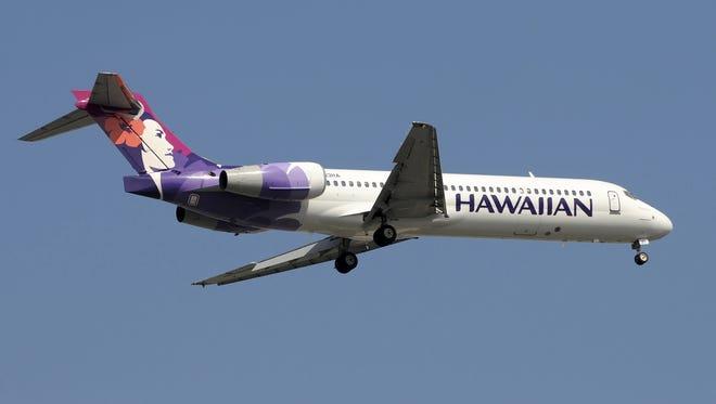 Hawaiian Airlines Boeing 717 jet.