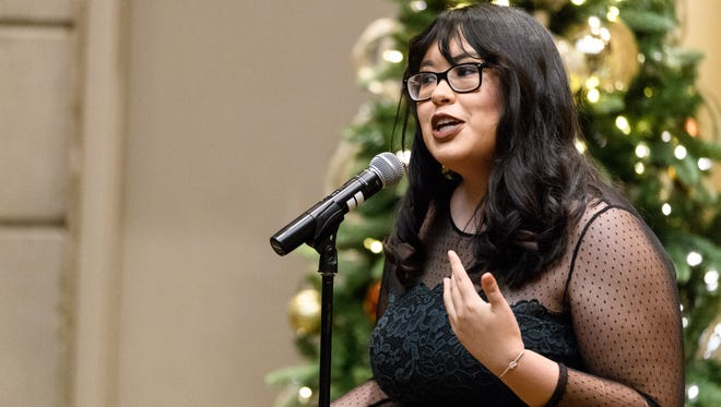 Lorraine Longhi at the Arizona Storytellers: Holiday Spectacular at the Arizona Biltmore in Phoenix on Dec. 20, 2017.