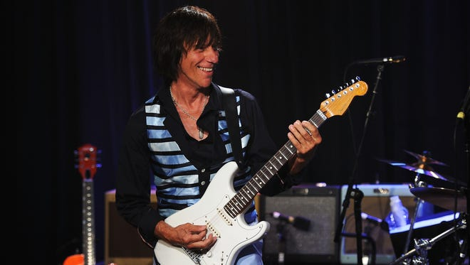 Jeff Beck performs onstage at Les Paul's 95th Birthday with Special Intimate Performance at Iridium Jazz Club on June 8, 2010 in New York City.